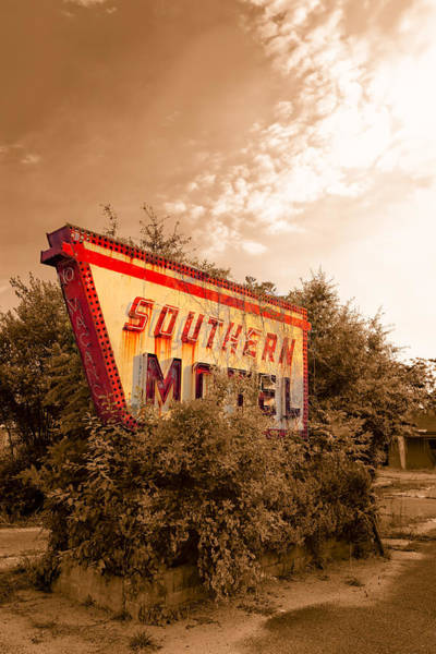 Photograph - Sleeping At The Southern Motel - Fading Americana by Mark Tisdale