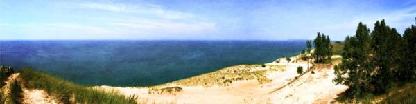 Photograph - Sleeping Bear Dunes Panorama by Michelle Calkins