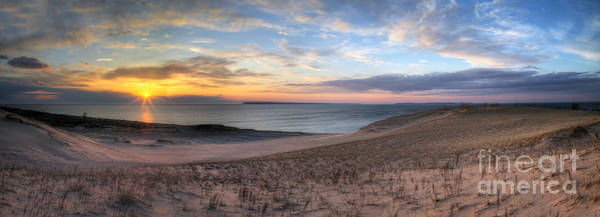 Sleeping Bear Dunes Wall Art - Photograph - Sleeping Bear Dunes Sunset Panorama by Twenty Two North Photography