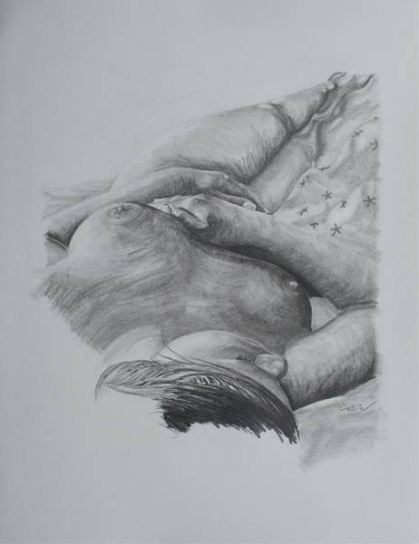 Hooter Drawing - Sleeping Beauty by Christian Whalvin