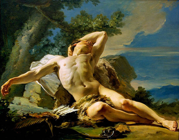 Painting - Sleeping Endymion by Nicolas Guy Brenet