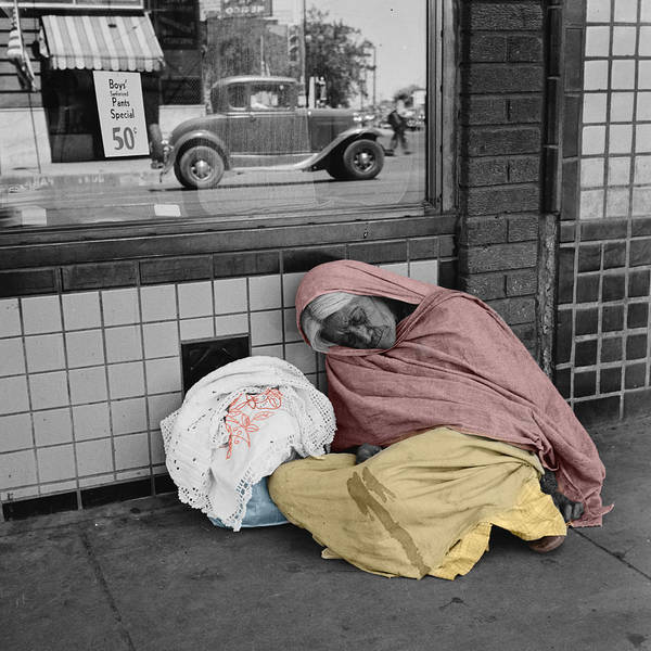 Photograph - Sleeping Mexican Woman by Andrew Fare