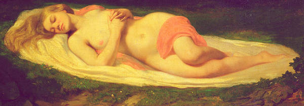 Asleep Painting - Sleeping Nymph by Jean Baptiste Ange Tissier