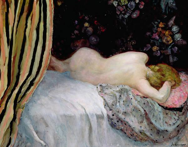 Nap Wall Art - Painting - Sleeping Woman by Henri Lebasque