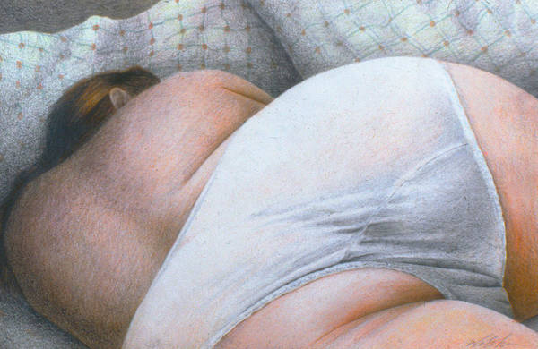 Social Commentary Painting - Sleeping Woman by Phil Welsher