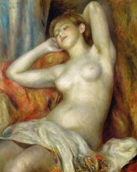 Winterthur Wall Art - Painting - Sleeping Woman by Pierre-Auguste Renoir