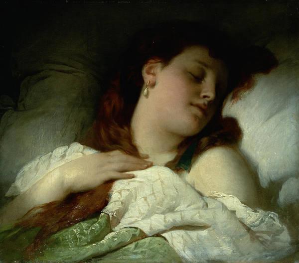 Rosy Photograph - Sleeping Woman by Sandor Liezen-Meyer