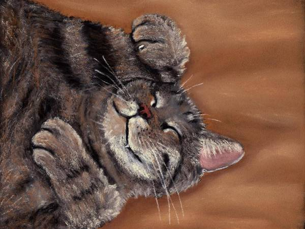 Wall Art - Painting - Sleepy Kitty by Anastasiya Malakhova