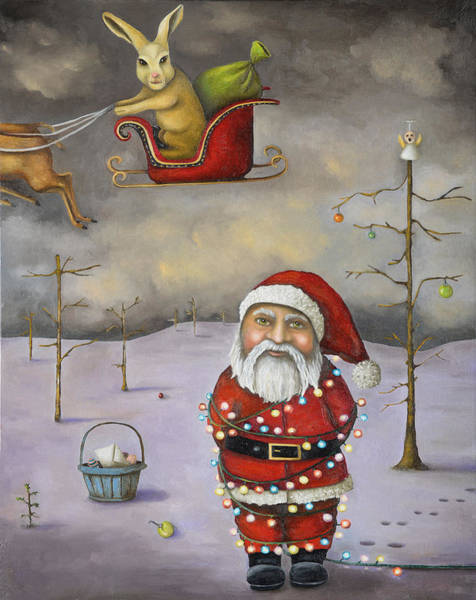 Painting - Sleigh Jacker Updated Image by Leah Saulnier The Painting Maniac