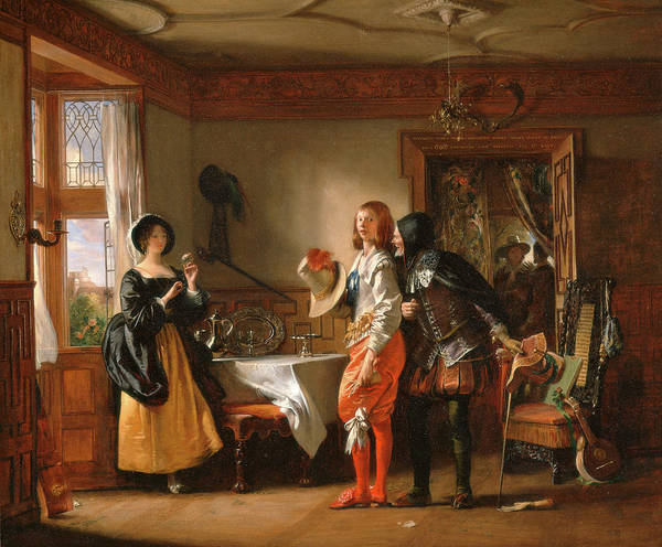 Assistance Painting - Slender, With The Assistance Of Shallow, Courting Anne by Litz Collection