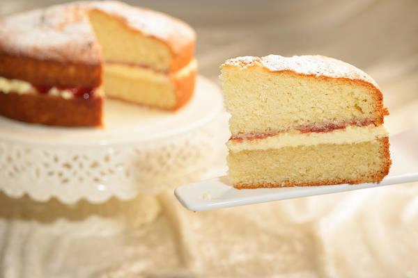 Sponge Photograph - Slice Of Cake by Amanda Elwell
