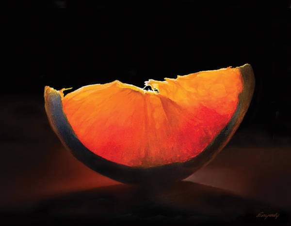 Fruit Wall Art - Painting - Slice Of Light by Anthony Enyedy