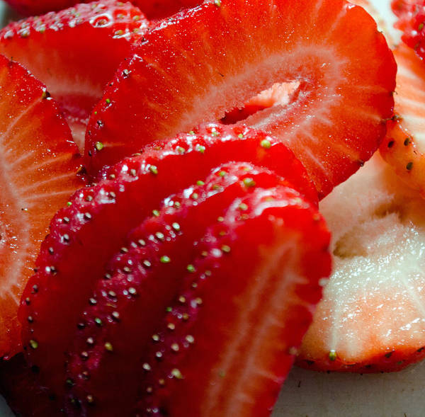 Photograph - Sliced Strawberries by Tikvah's Hope