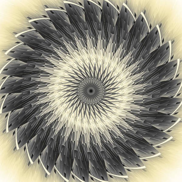 Digital Art - Slices Of Sepia by Carolyn Marshall