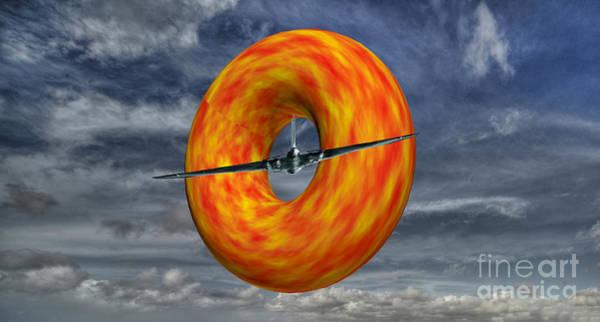 Vulcan Bomber Photograph - Slicing Donut  by Rob Hawkins