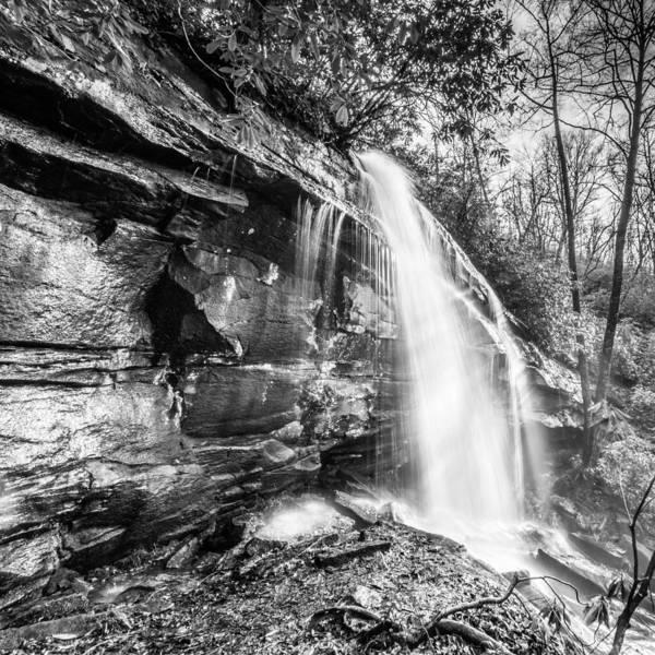 Photograph - Slick Rock Falls Monochrome by Randy Scherkenbach