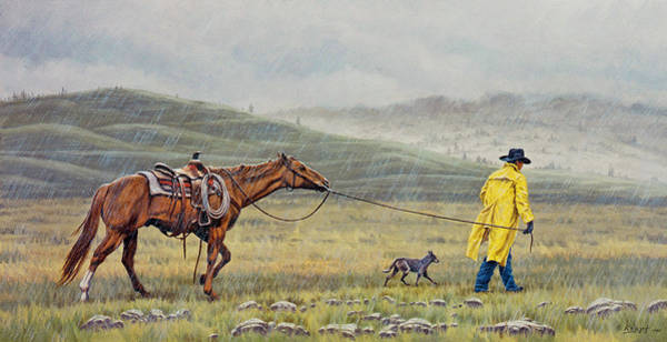 Wall Art - Painting - Slicker Weather by Paul Krapf