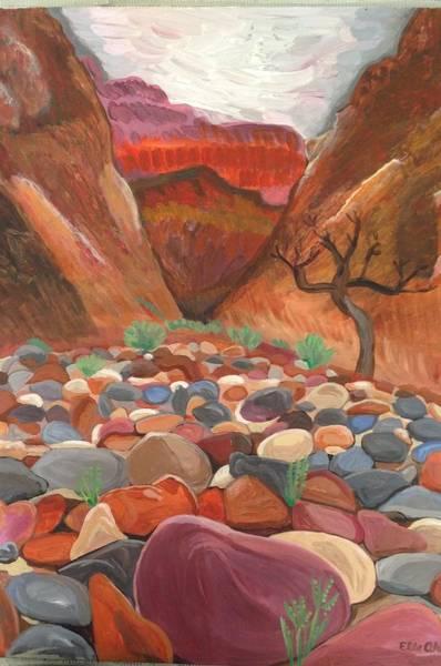 Oak Creek Canyon Painting - Slide Rock by Elle Alves