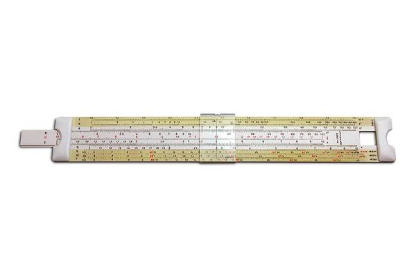 Number One Wall Art - Photograph - Slide Rule by Victor De Schwanberg