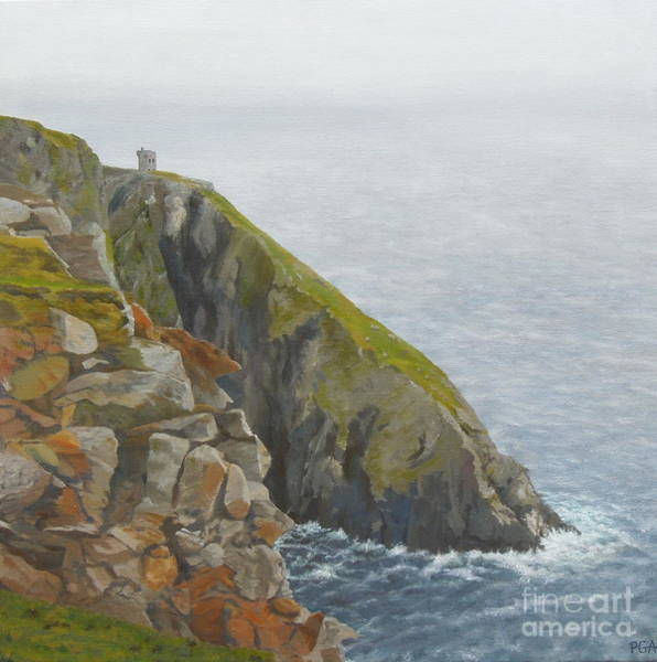 Donegal Painting - Slieve League County Donegal by Phyllis Andrews
