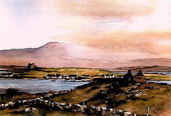 Mixed Media - Sligo  Towards Knocknarea by Val Byrne
