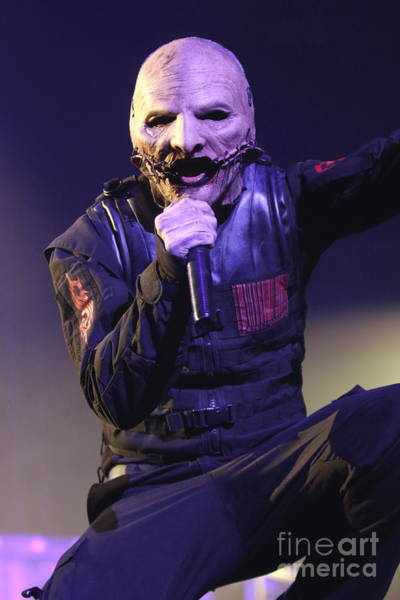 Thrash Metal Wall Art - Photograph - Slipknot Singer Corey Taylor by Concert Photos