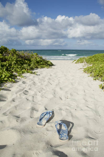 Photograph - Slippers And Beach by Charmian Vistaunet