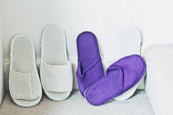 Comfort Photograph - Slippers by Tom Gowanlock
