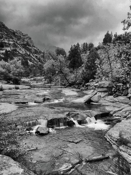 Photograph - Slippery Rocks - Black And White by Harold Rau