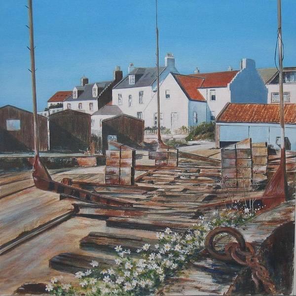 Fife Painting - Slipway St Monance by Stella Turner