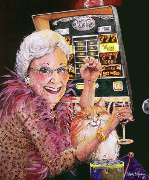 Tool Painting - Slot Machine Queen by Shelly Wilkerson