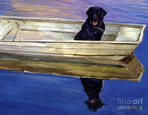 Canine Painting - Slow Boat by Molly Poole