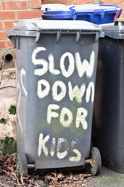 Bin Wall Art - Photograph - Slow Down by Tom Gowanlock