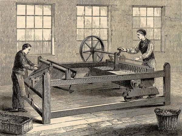 Inventor Photograph - Slubbing-billy To Spin Carded Wool by Universal History Archive/uig