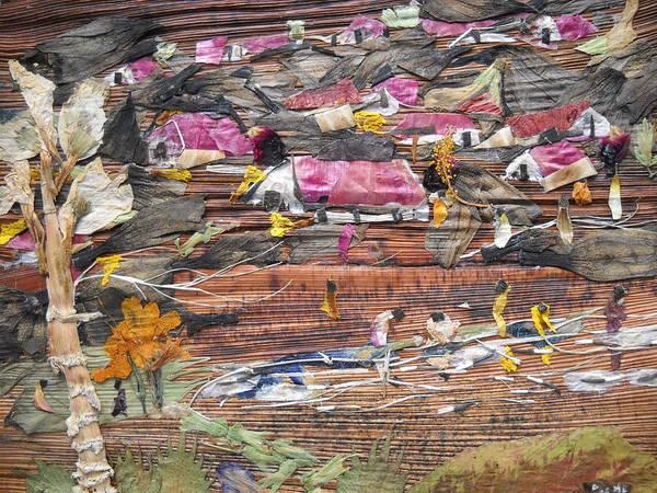 Wall Art - Mixed Media - Slum On Hill  by Basant Soni