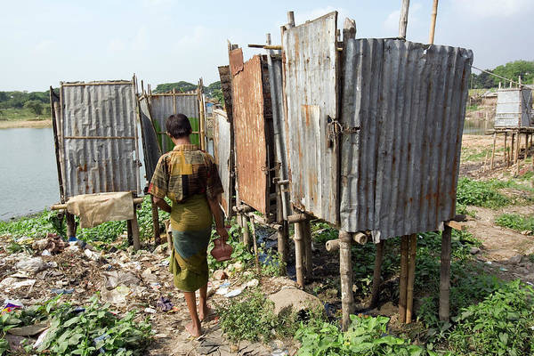 Toilet Photograph - Slum Toilets In Dhaka by Adam Hart-davis/science Photo Library