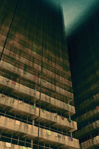 Digital Art - Slums Of Metropolis by Matt Lindley