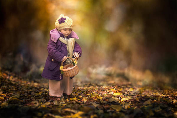 Kid Photograph - Small Autumn Fairy by Stanislav Hricko