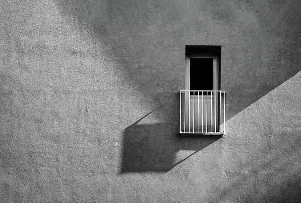 Balcony Photograph - Small Balcony And Its Shadow by Inge Schuster