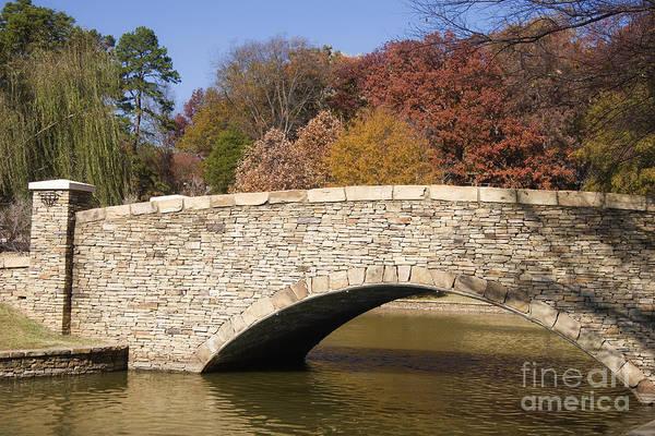 Photograph - Small Bridge At A Park by Jill Lang