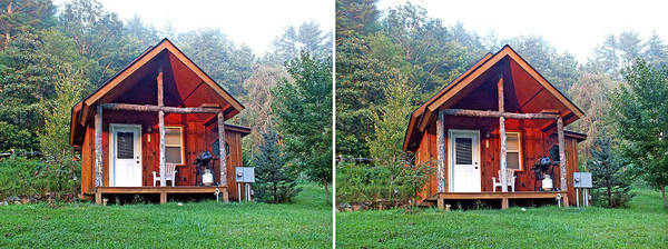 Photograph - Small Cabin In 3d Stereo by Duane McCullough