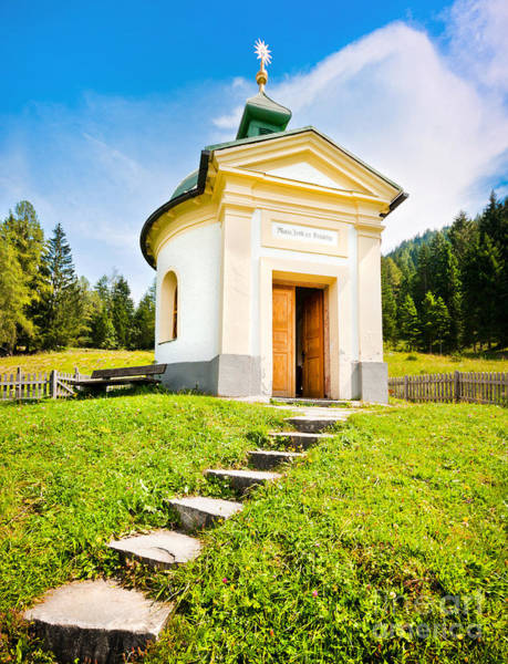 Wall Art - Photograph - Small Chapel In Austria by JR Photography