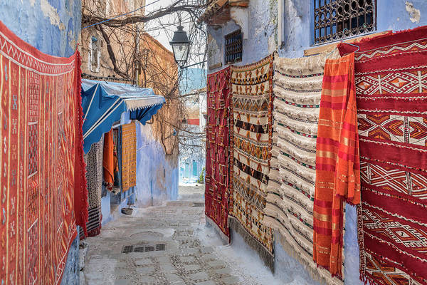 Chefchaouen Wall Art - Photograph - Small Colorful Streets In Medina Of by Izzet Keribar