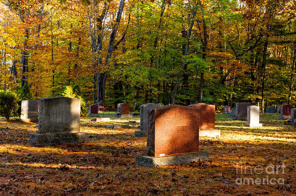 Photograph - Small Country Cemetery In Fall by Les Palenik