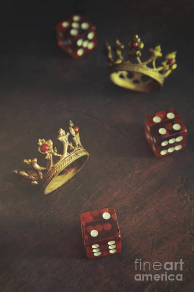 Photograph - Small Crowns With Dice On Table by Sandra Cunningham