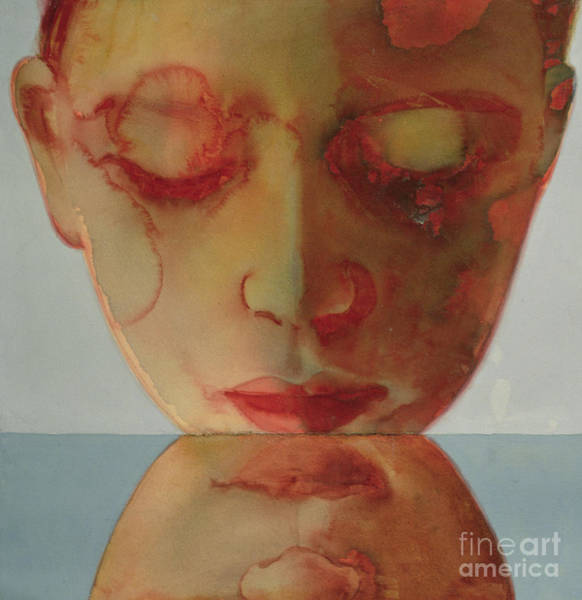 Pensive Painting - Small Echo by Graham Dean