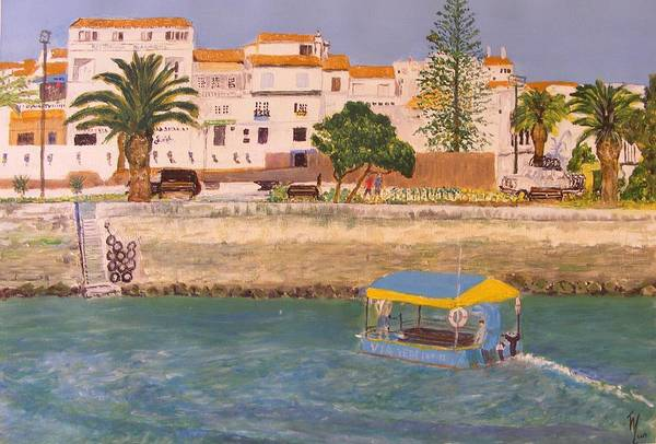 Lagos Painting - Small Ferry In Lagos Portugal by Thomas McCaskie