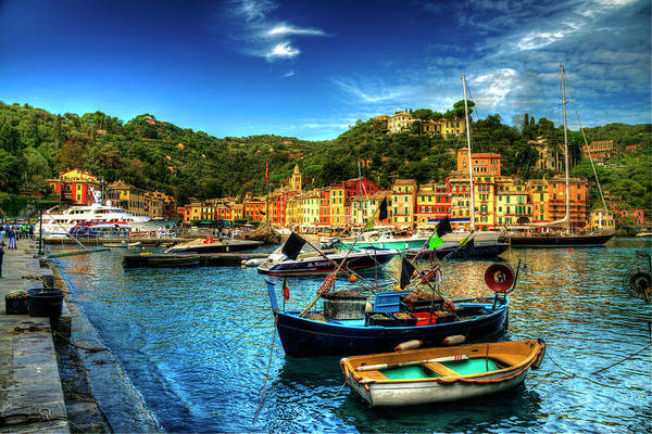 Portofino Photograph - Small Fishing Boats by Painting With Light