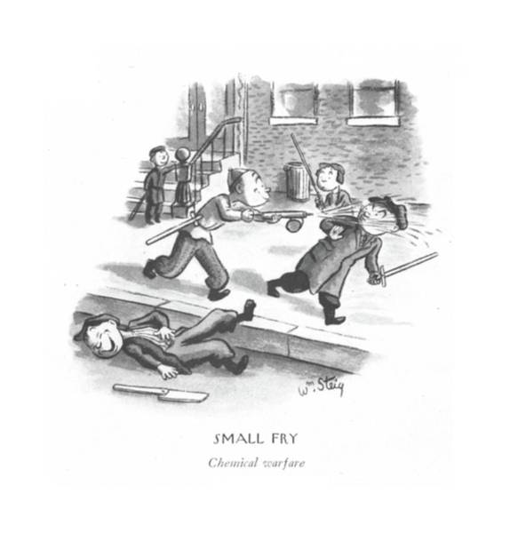 Nerves Drawing - Small Fry Chemical Warfare by William Steig