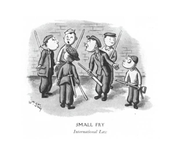 International Relations Drawing - Small Fry International Law by William Steig